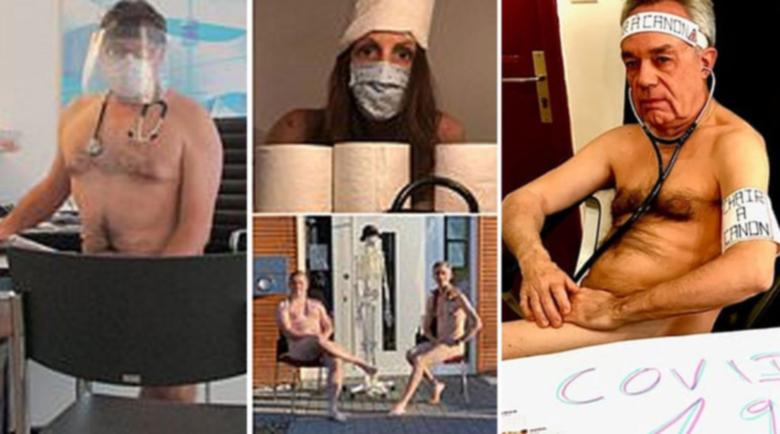 Немски лекари протестират голи заради липса на маски