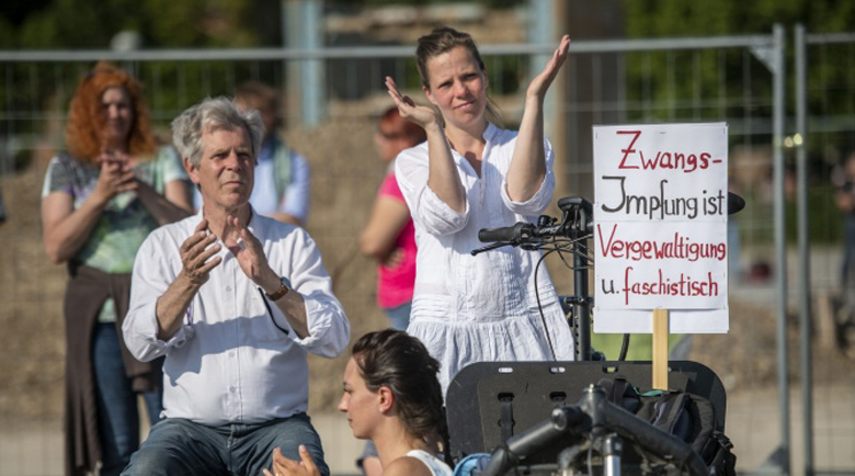 Протести срещу ограничителните мерки в Германия