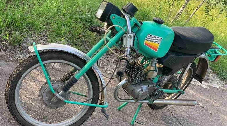 Ретро: Откриха мотопед Карпати-2 с нулев пробег