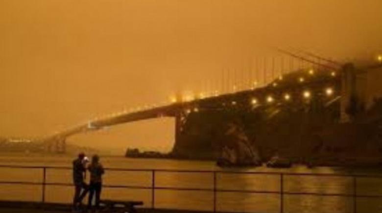 Пожарите в Калифорния предизвикаха природен феномен
