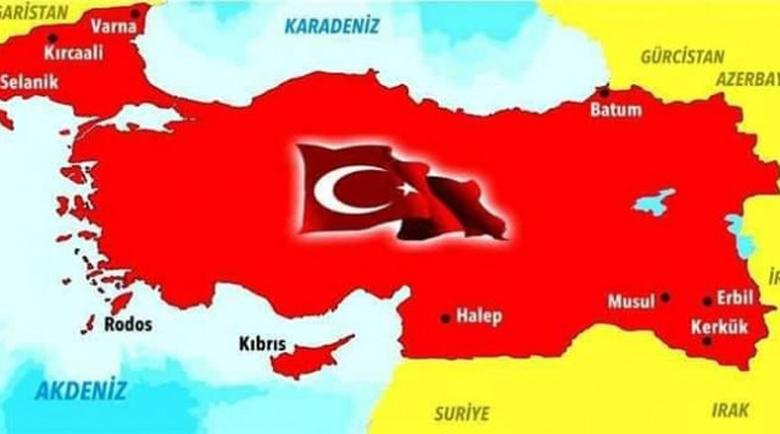Карта на Турция с чужди територии: Провокация към Атина, и ние сме там