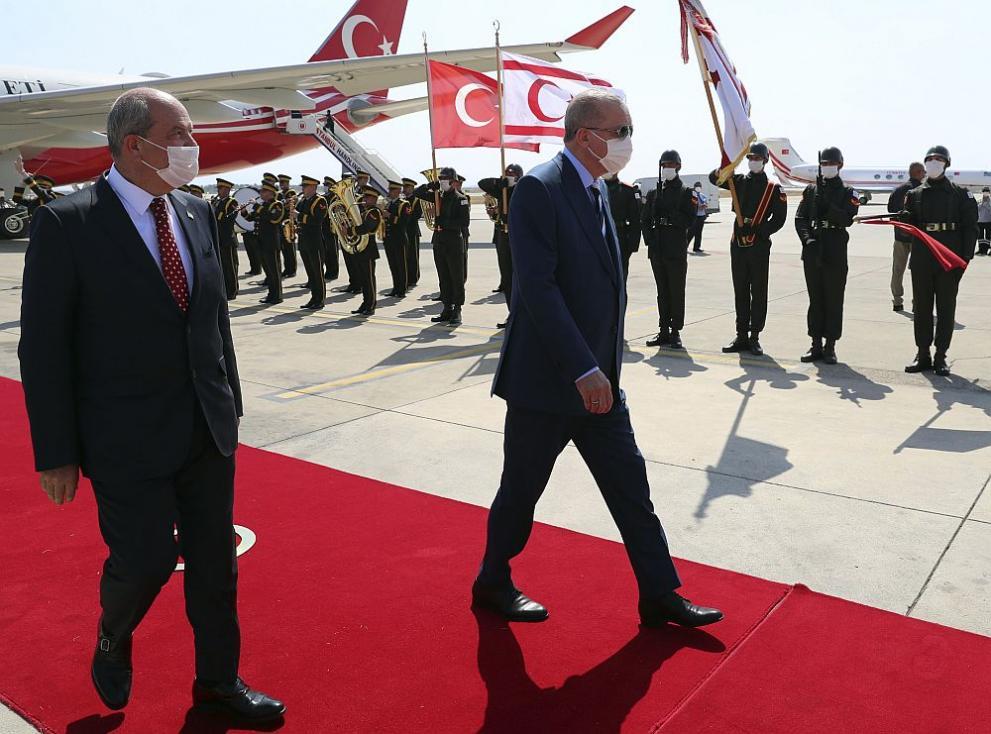 Ердоган в Севернокипърската турска република: Кипърският въпрос е наша голяма национална кауза