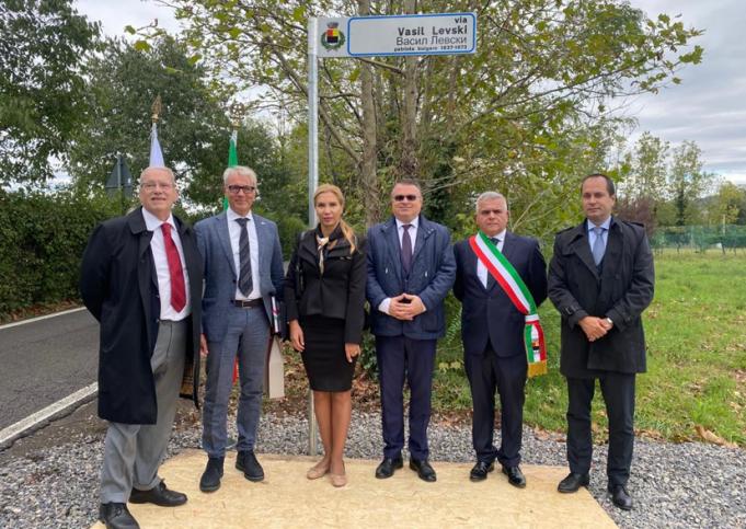 Откриха улица на името на Васил Левски в Италия